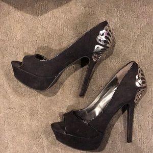 Heels black carlos santana